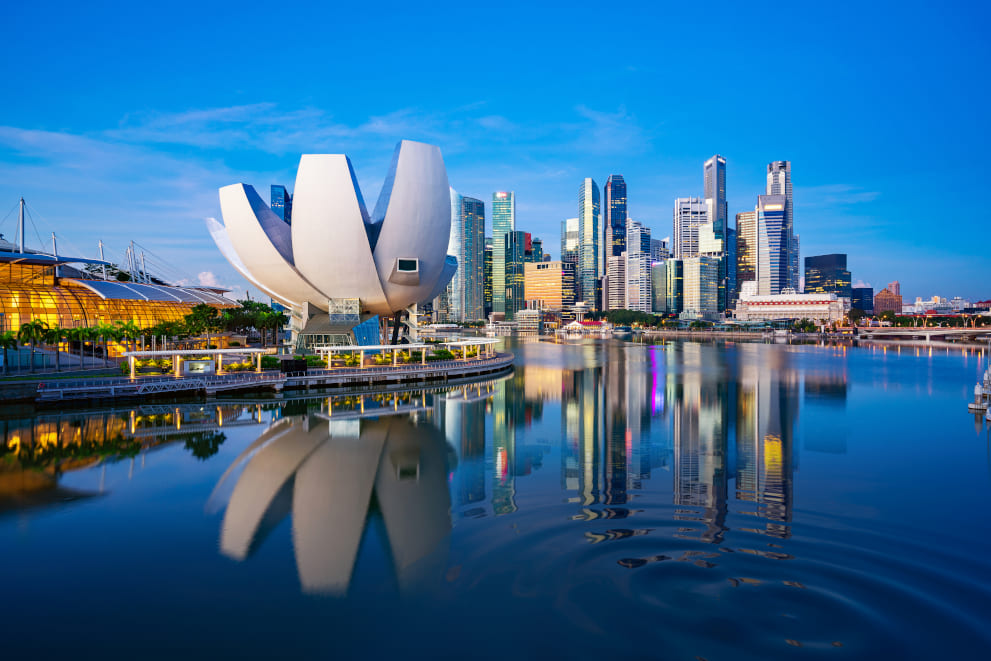 a view of Singapore financial centre