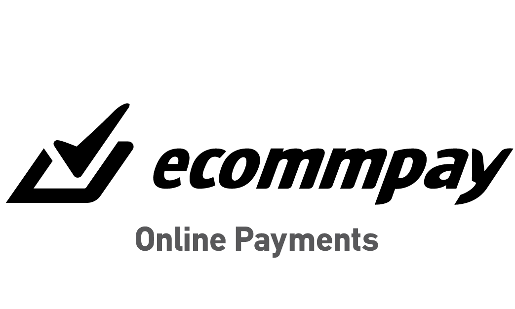 ECOMMPAY black logo with Online Payments at the bottom