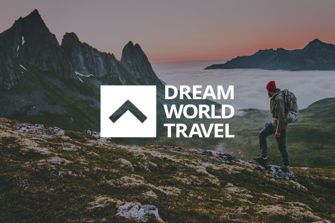 ECOMMPAY client's banner of Dream World Travel